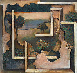 Landscape with Trees II  1992-3, 38 x 40 cm