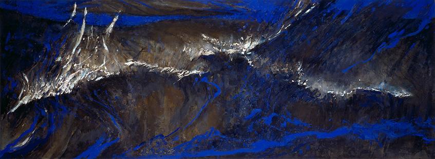 Night Sea  1986-7, 168 x 457 cm