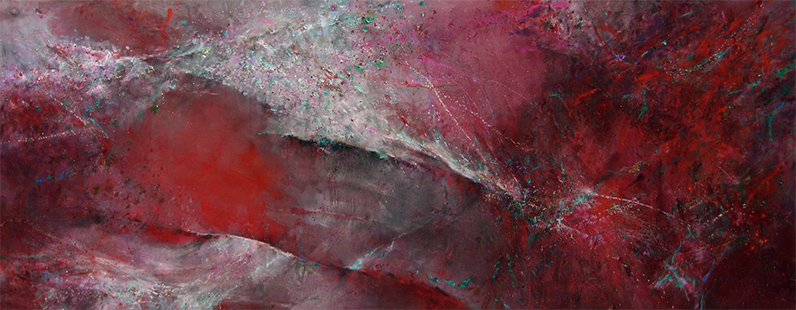 Red Ocean  2000-16, 168 x 447 cm