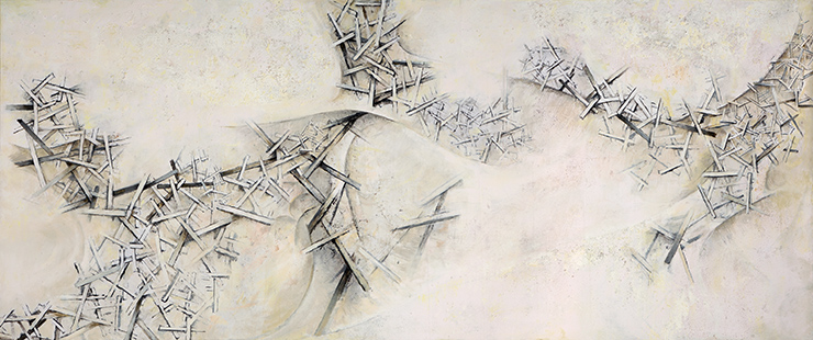Tidal Surge  2004-5, 168 x 409 cm