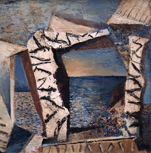 Seaview  1993, 41 x 41 cm