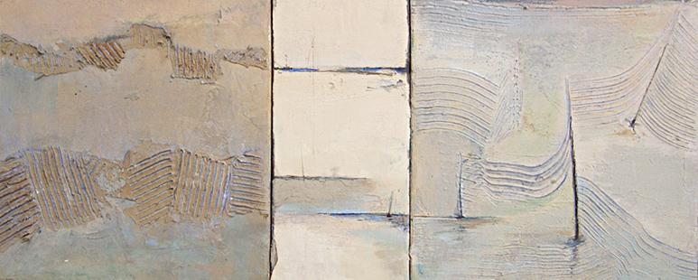 Seaside Triptych  2001-6, 30.5 x 75 cms
