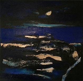 Night Sea And Moon  1985-89 51 x 51 cm