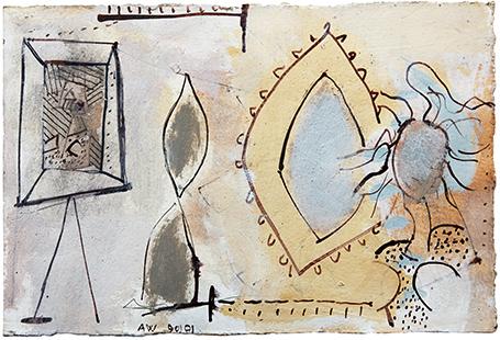 Model Mirror Painting  1990-91, 17 x 26 cm