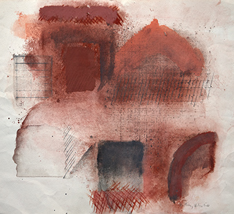 Towards Landscape  1976, 38.5 x 48.5 cm