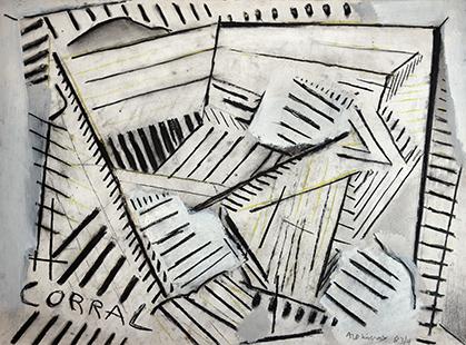 Corral  1983-4, 56 x 76 cm