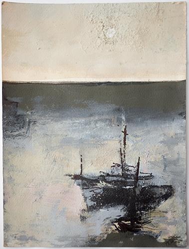 Sundown At Sea  2012-16, 24.5 x 18 cm