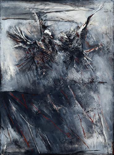 Startled Birds II  1995, 152 x 122 cm
