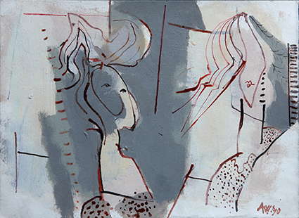 Mother And Daughter IV  1990, 25 x 34 cm