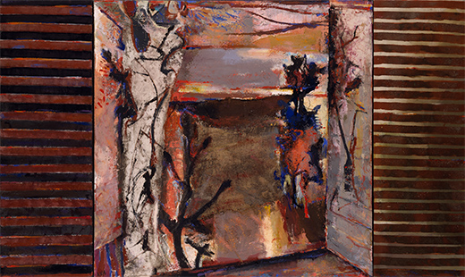 Evening Landscape With Trees  1990-3, 152 x 254 cm