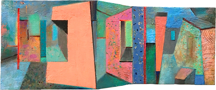 Shaped Interior III  1999-2018, 40 x 90 cm