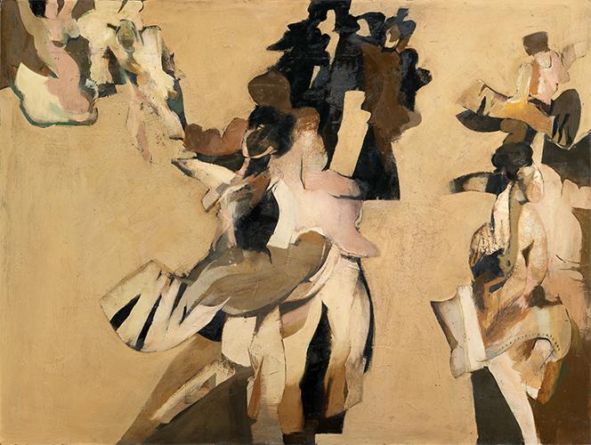 Dancers 1963, 92 x 122 cm, oil on board