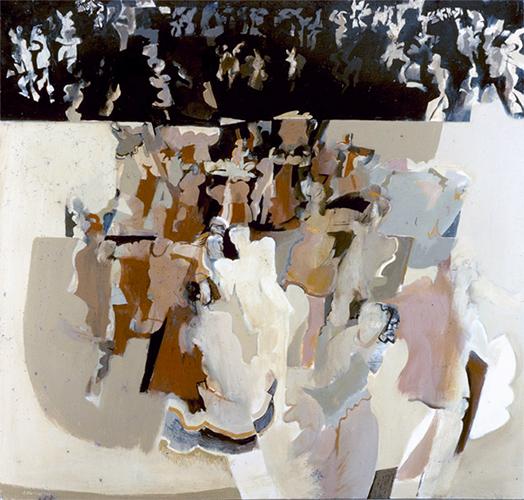 Dance V 1964, 123 x 123 cm, oil on board (Bank of Boston, USA)