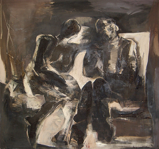 Two Seated Figures  1961, 180 x 180 cm