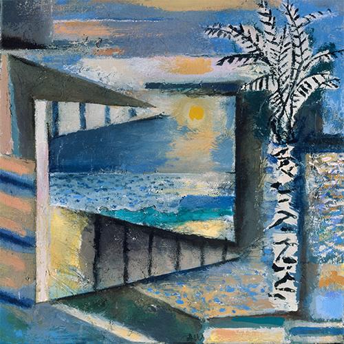 Tree, Window, Sea And Sky  1992-3, 43 x 45.5 cm