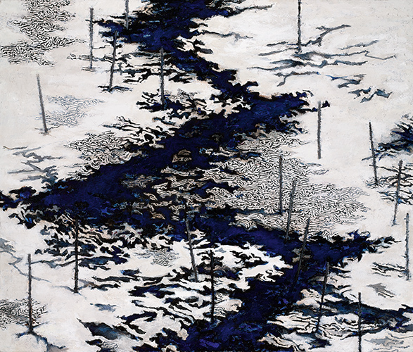 Downstream Thaw  2007-9, 113 x 133 cm