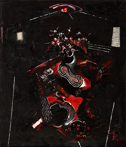 Red Night Interior  1985-6, 152 x 117 cm