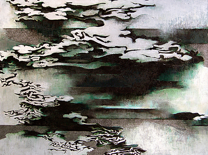 Seascape With Approaching Rain Clouds  2007-9, 178 x 229 cm