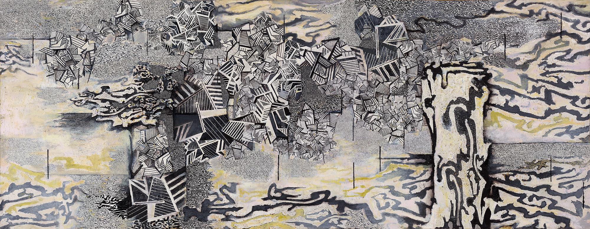 Urban Flood  2003-14, 119 x 305 cm