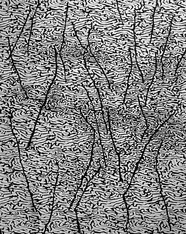 Downstream 2004, 153 x 122 cm