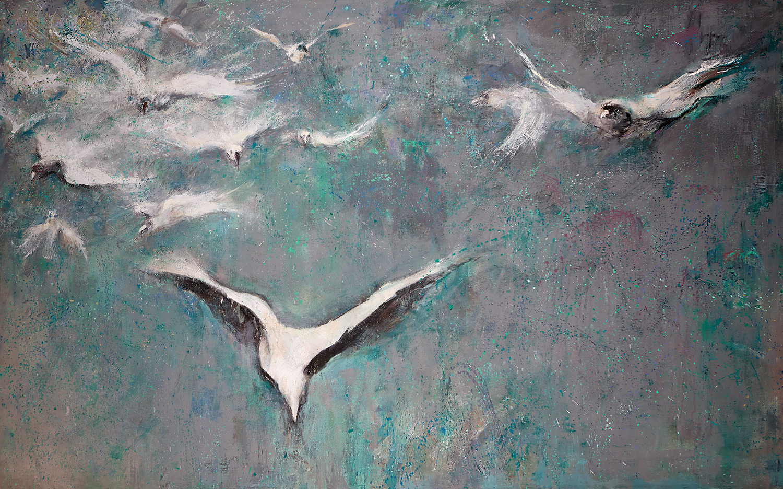 Flight  2009-19, 152 x 246 cm