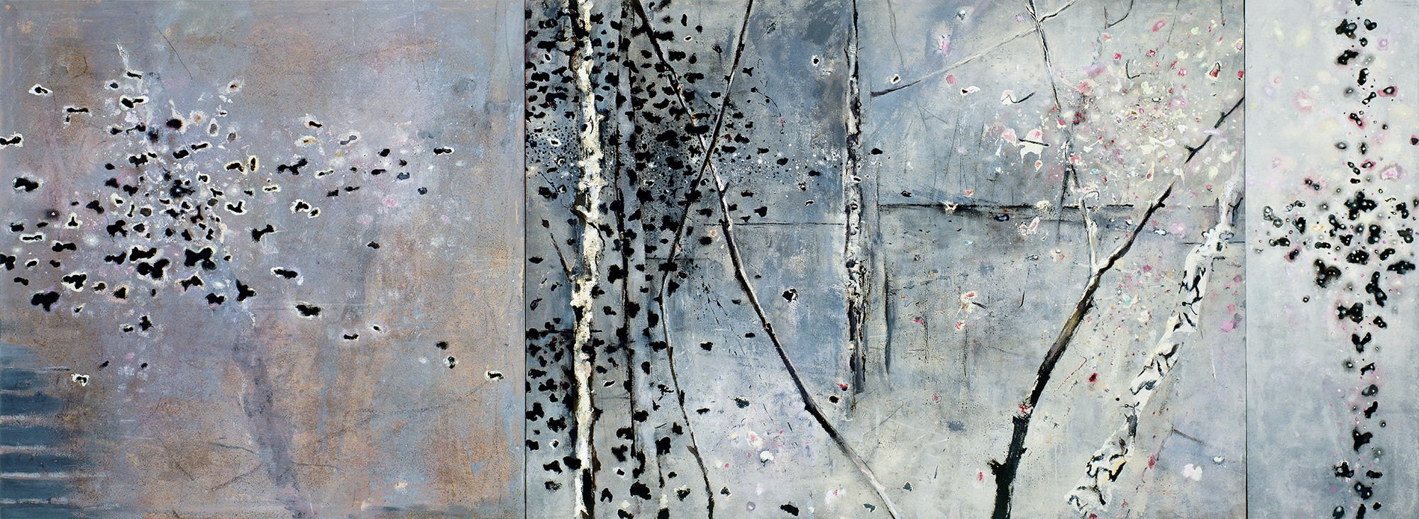 Aspen Triptych  1990-2000, 168 x 452 cm