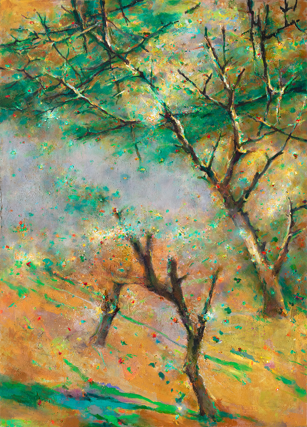 Early Summer Treescape  2010-16, 229 x 168 cm
