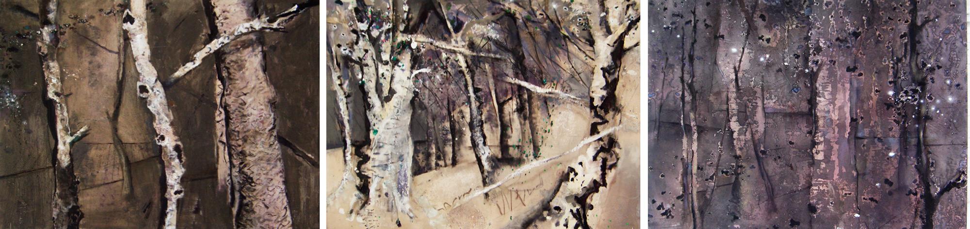 Forest Interior Triptych  1982-2000, 168 x 685 cm