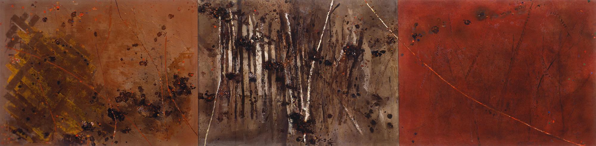 Autumn Spinney Triptych  1982-1996, 168 x 685 cm
