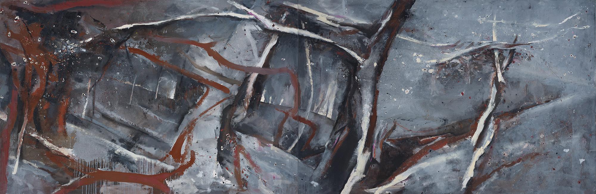 Winter Landscape  1987-2008, 168 x 508 cm