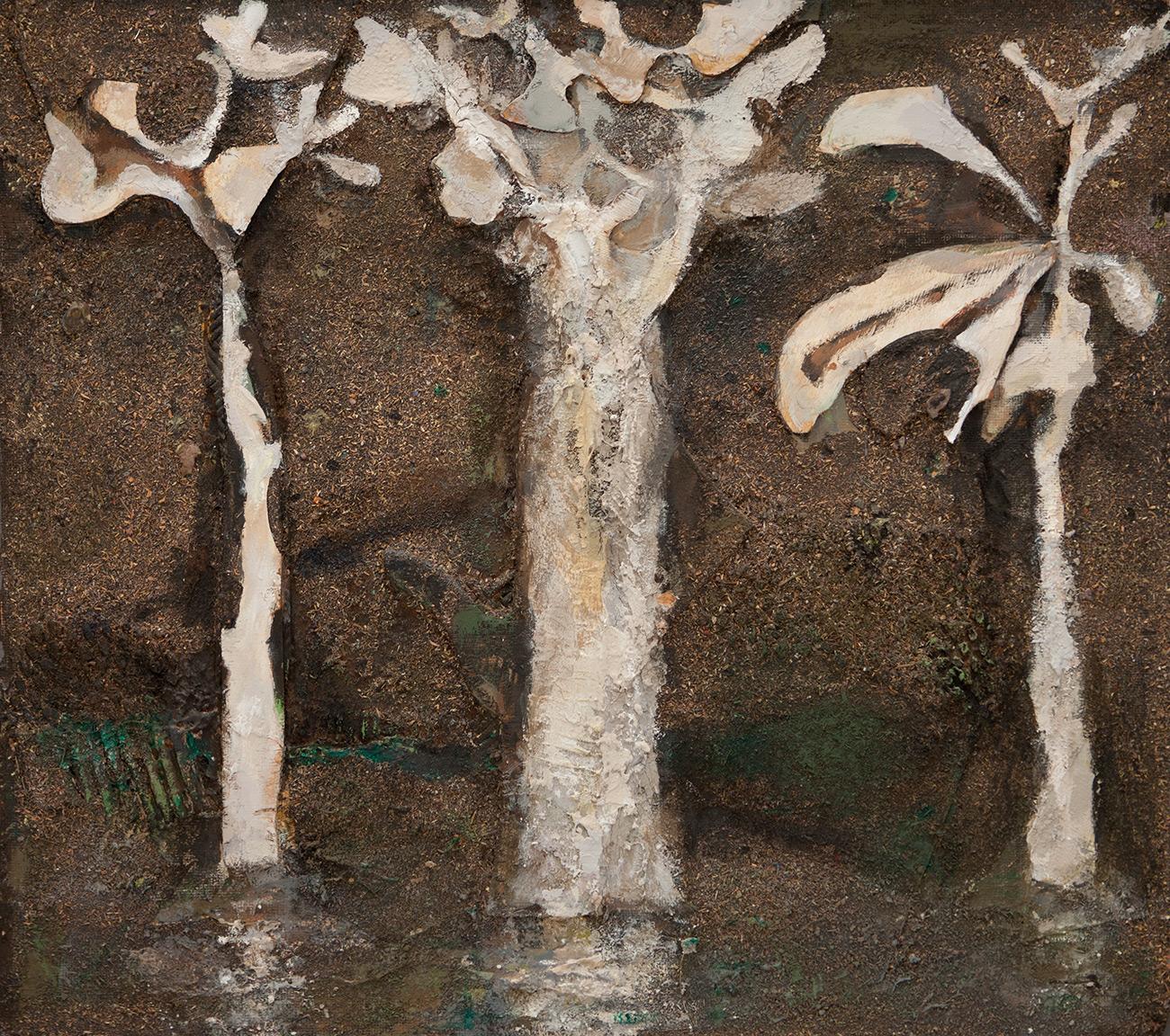 Three Trees  1992-2016, 56 x 61 cm