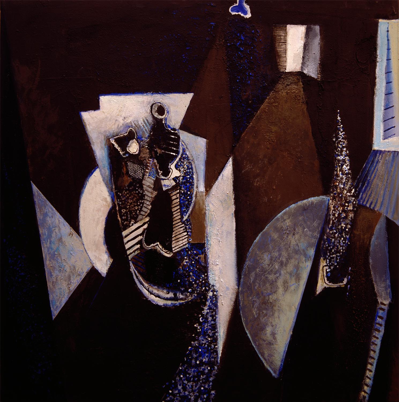Blue Interior 1987-2004, 153 x 153 cm