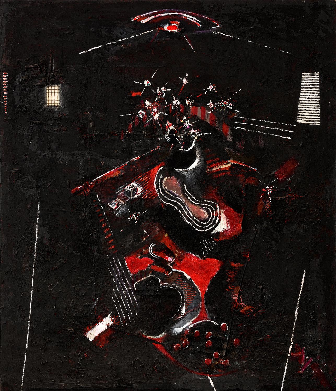 Red Night Interior 1985-6, 152 x 117 cm