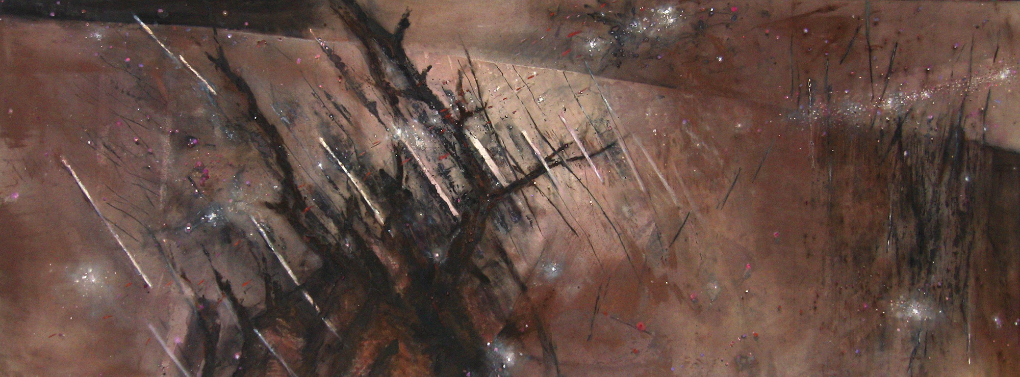 March Wind Seed and Rain  1984-2013, 173 x 448 cm