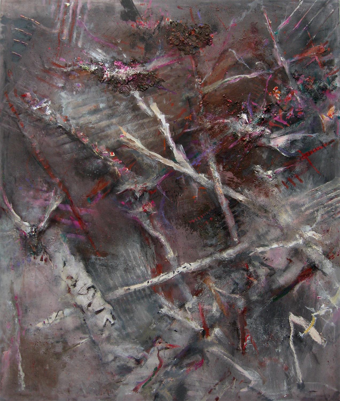Spinney With Startled Birds  2001-16, 242 x 207 cm