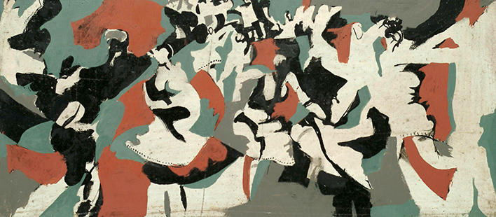 Abstract Dancers 1964, 20.5 x 46 cm
