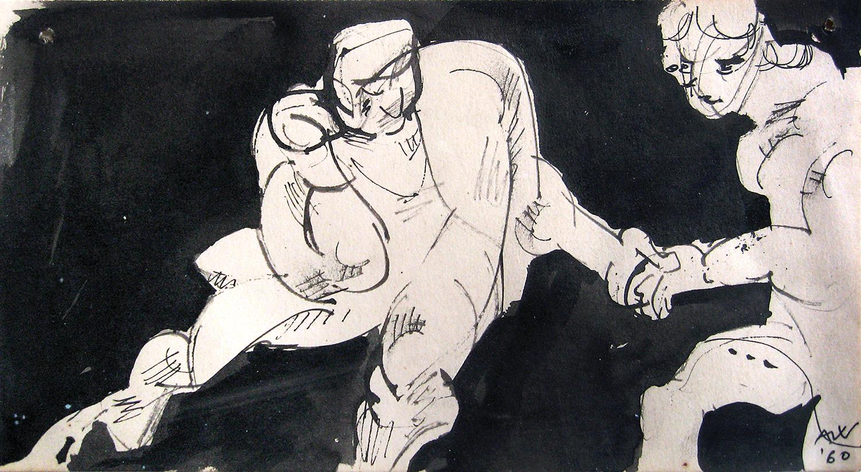 The Twist  1960, 12 x 23 cm
