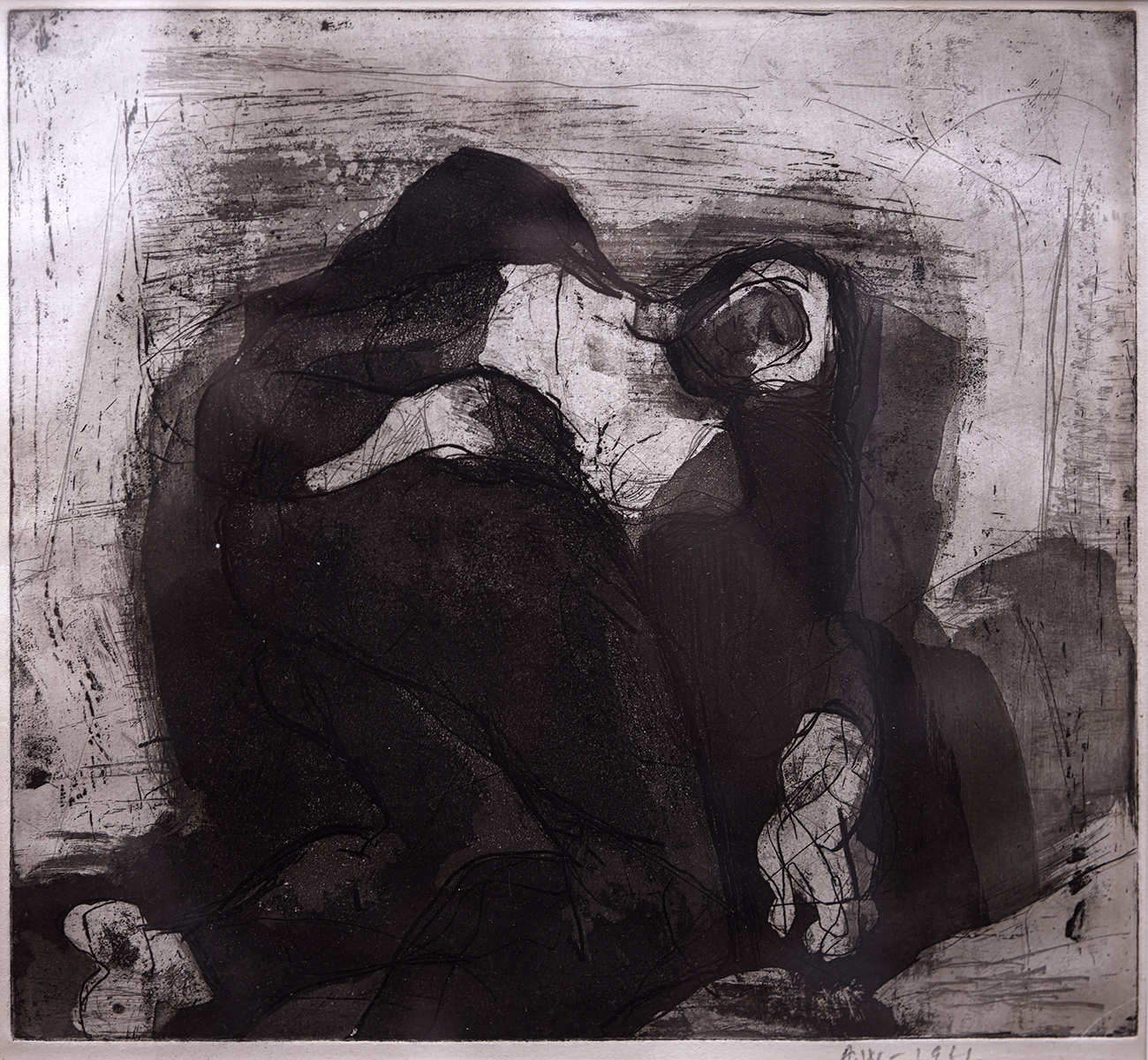 Sleeping Man  1961, 25 x 27 cm, etching