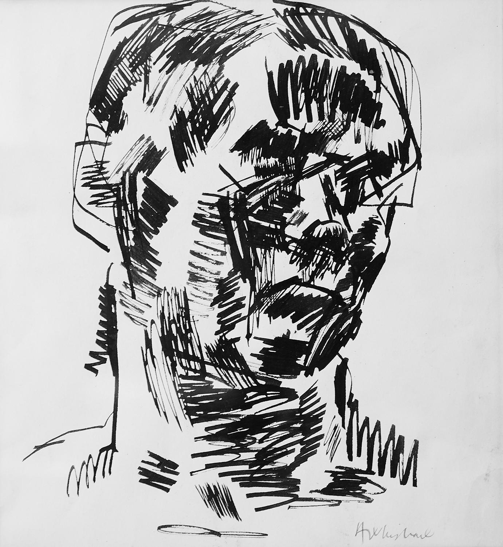 Head  1964, 27 x 25 cm