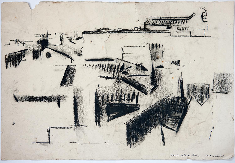 Puerto De Santa Maria  1961, 38.5 x 56 cm