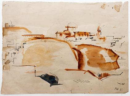 Distant Pueblo  1961, 28 x 38 cm