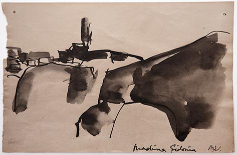 Medina Sidonia  1961, 11.5 x 18 cm