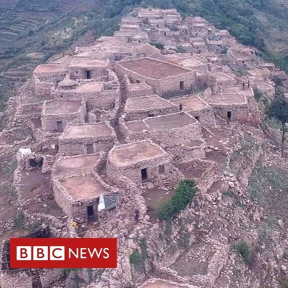"Ethiopia's 900-year-old Shonke village on a mountain. Residents say they prefer their traditional stone-built homes to Ethiopia's ""shining cities"". It's the countdown to our school's official opening on Thursday. Can you help us to raise the rest of our funds? #ethiopia #charity #buildingfuturesethiopia"