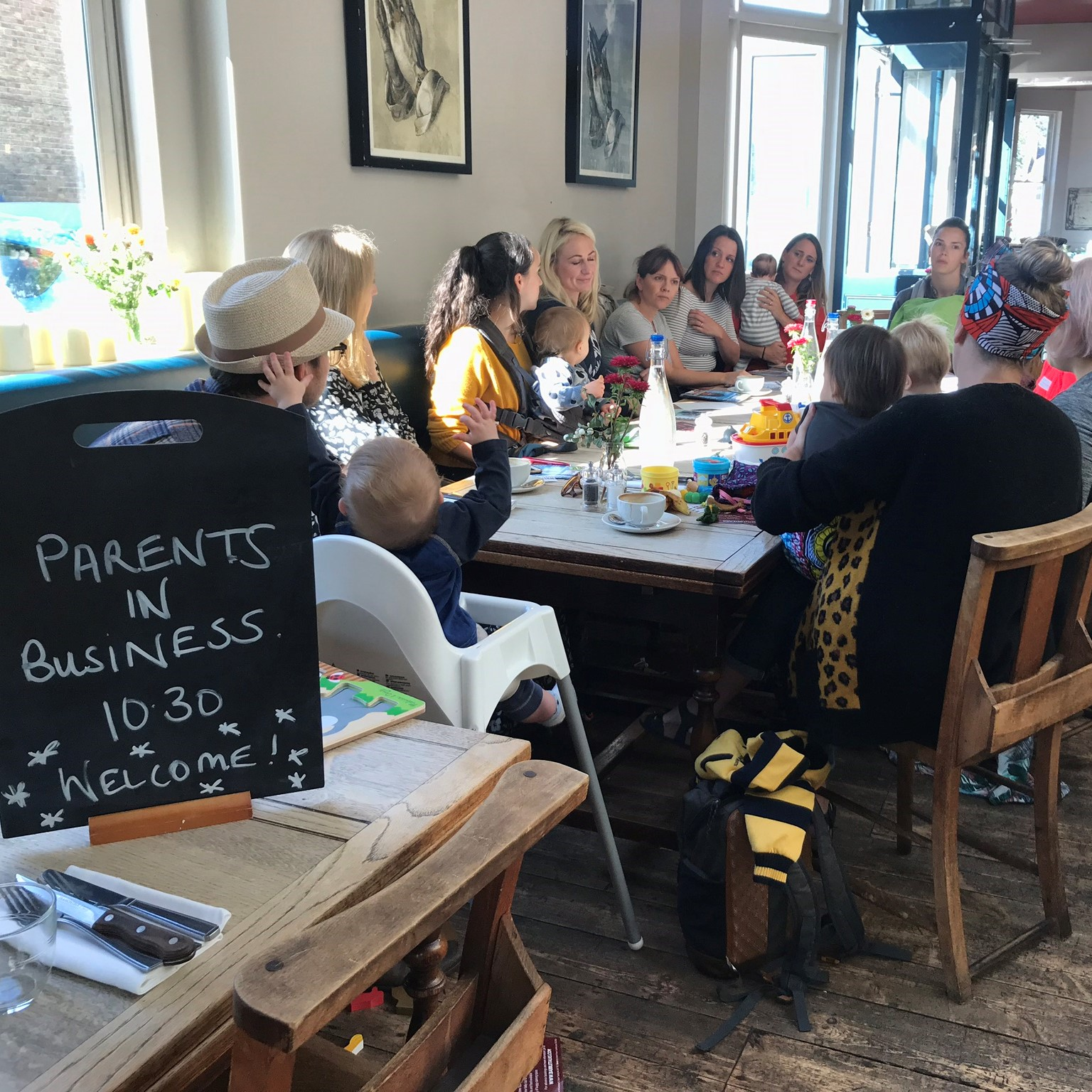 Parents in Business - Networking for local parents, led by Social Media Consultant Angharad Monthly at 10.30am - 12pm