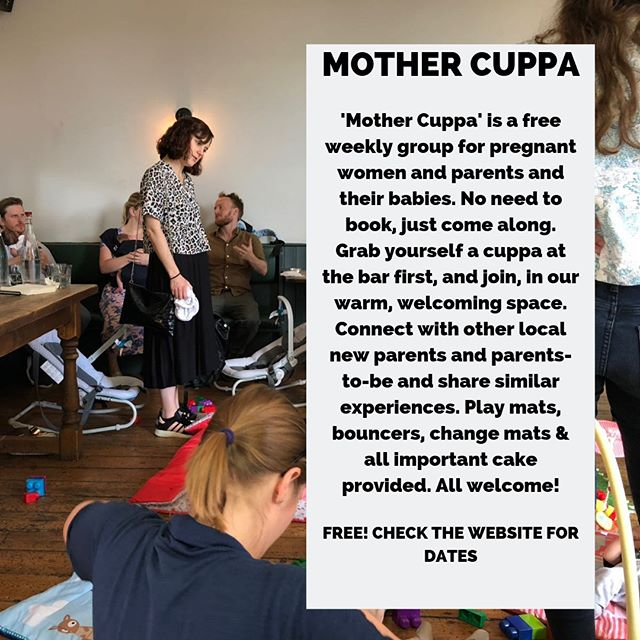 MOTHER CUPPA // Our weekly free parent & baby group⠀⠀⠀⠀⠀⠀⠀⠀⠀ ⠀⠀⠀⠀⠀⠀⠀⠀⠀ We have a lovely team of volunteer mums and babies welcoming other parents to Mother Cuppa. So if you haven't been down yet, and are looking for somewhere to get out of the house, meet new people, have an adult conversation, eat cake and drink coffee, all in a place with bouncers, mats, toys and feeding pillows, this is for you!⠀⠀⠀⠀⠀⠀⠀⠀⠀ ⠀⠀⠀⠀⠀⠀⠀⠀⠀ With thanks to @thegroupantenatal and @michelemyoga for sponsoring the session and making it possible :)⠀⠀⠀⠀⠀⠀⠀⠀⠀ ⠀⠀⠀⠀⠀⠀⠀⠀⠀ Every Tuesday at 1.30pm-3pm