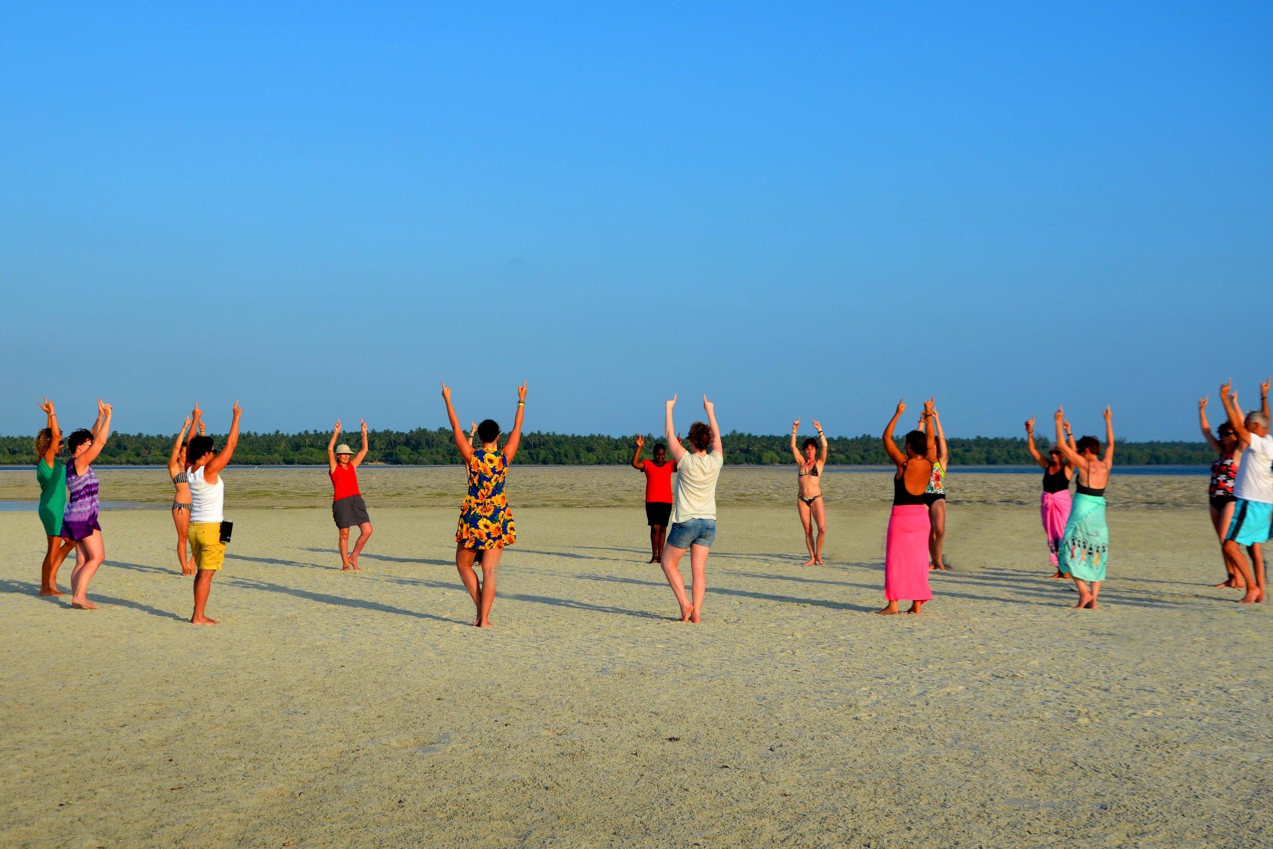 Yoga - Dru Yoga Retreat Yoga on Exposed Sandbar.jpg