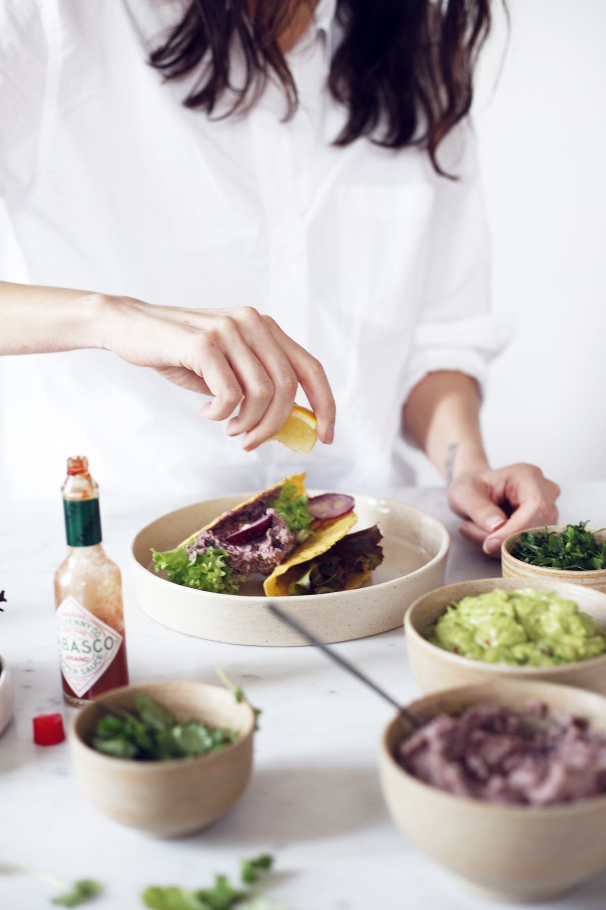 vegan and gluten free taco's English and Dutch Food Bandits