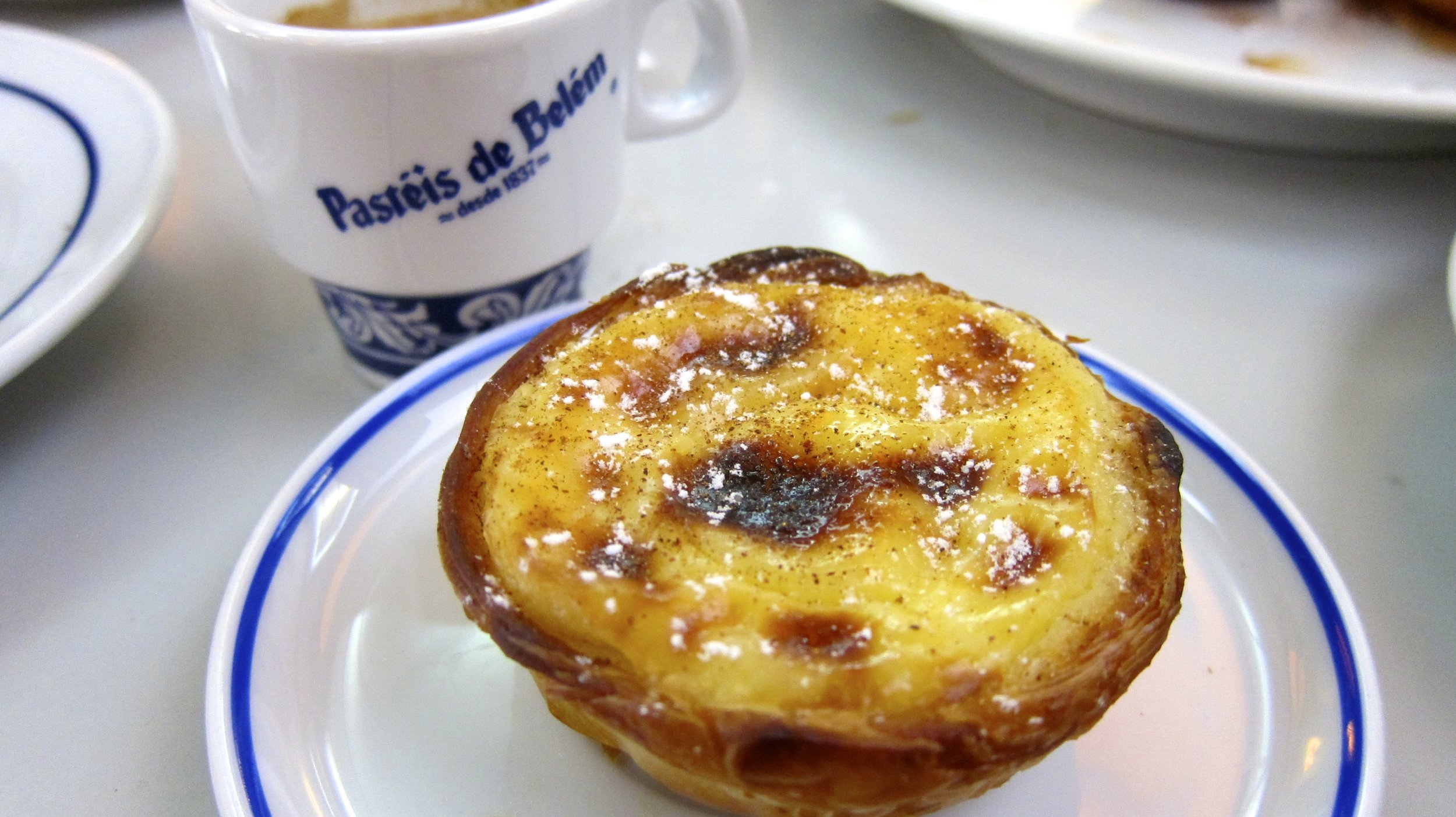 The pastel de natas at Pasteis de Belem in Lisbon.
