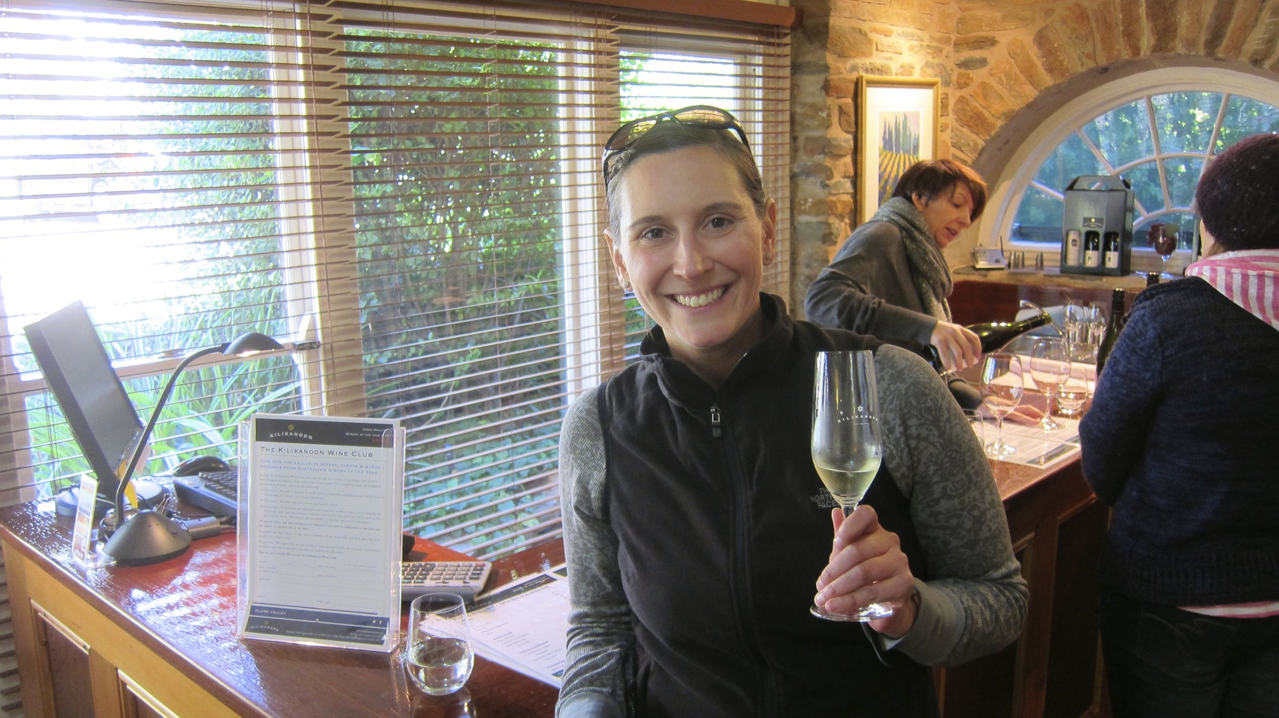 Happy to be off the bike and tasting at Kilkanoon.