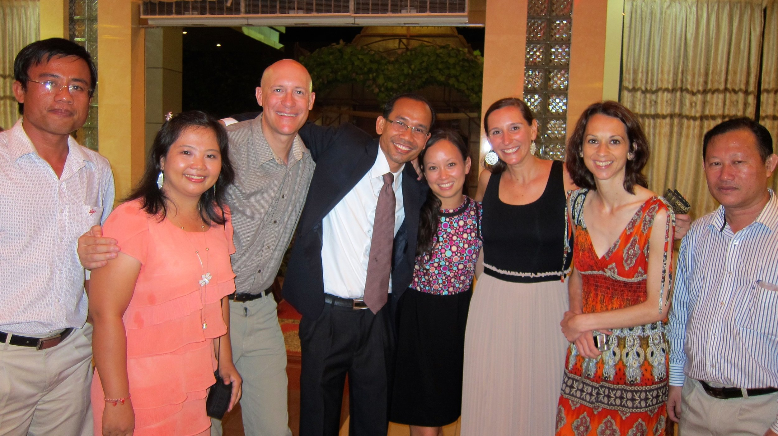Dave and I with some of my NGO colleagues and friends.